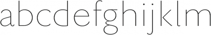 Rowton Sans FY Hairline otf (100) Font LOWERCASE
