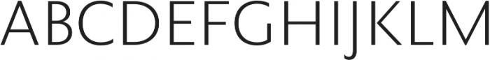 Rowton Sans FY Light otf (300) Font UPPERCASE