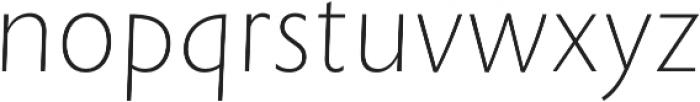 Rowton Sans FY Thin Italic otf (100) Font LOWERCASE