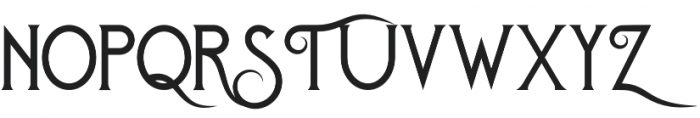 Royal Brandy Regular otf (400) Font UPPERCASE