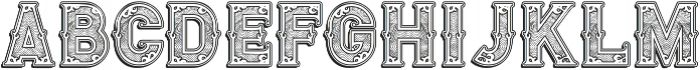 Royal Guilloche 1 Shadow otf (400) Font UPPERCASE