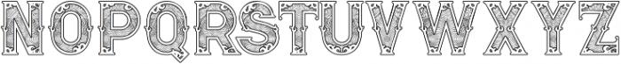 Royal Guilloche 1 otf (400) Font UPPERCASE