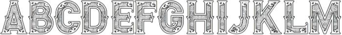 Royal Guilloche 1 otf (400) Font LOWERCASE