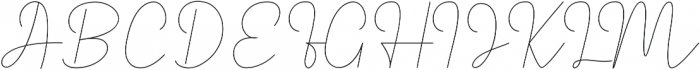 Royal Haster Monoline ttf (400) Font UPPERCASE