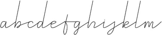 Royal Haster Monoline ttf (400) Font LOWERCASE