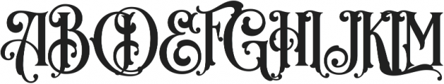 Royal Signage_1.4 ttf (400) Font UPPERCASE