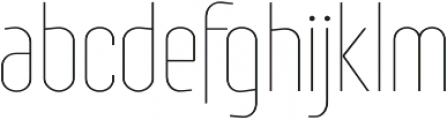 Royal Street ExtraLight otf (200) Font LOWERCASE