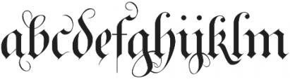 RoyalBavarian Regular otf (400) Font LOWERCASE