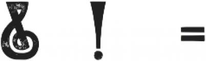 Roycroft Distressed otf (400) Font OTHER CHARS