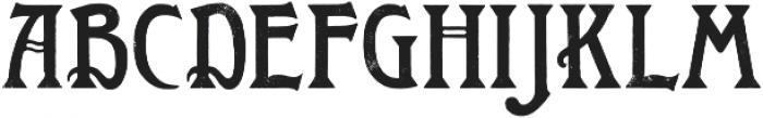 Roycroft Distressed otf (400) Font UPPERCASE