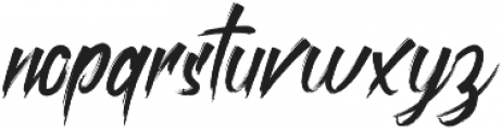 roastink Regular otf (400) Font LOWERCASE