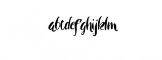 Rohman Grunge.otf Font LOWERCASE