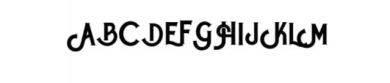 Roister Typeface Font UPPERCASE