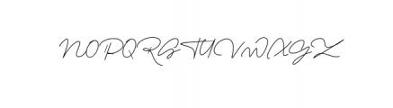 Romalin Signature Font UPPERCASE