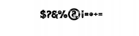 RomanBlackBoldGrunge.otf Font OTHER CHARS