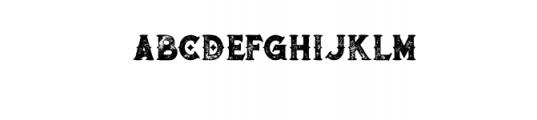 RomanBlackBoldGrunge.otf Font LOWERCASE