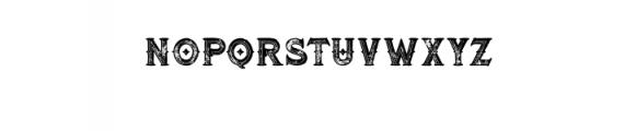 RomanBlackBoldInlineGrunge.otf Font LOWERCASE