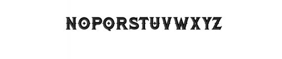 RomanBlackBoldInline.otf Font LOWERCASE