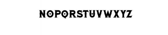 RomanBlackBold.otf Font LOWERCASE
