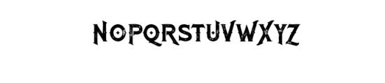 RomanBlackGrunge.otf Font UPPERCASE