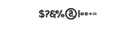 RomanBlackInlineGrunge.otf Font OTHER CHARS