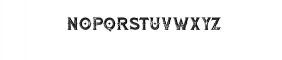 RomanBlackInlineGrunge.otf Font LOWERCASE