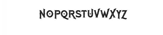 RomanBlackInline.otf Font UPPERCASE