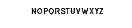 RomanBlackInline.otf Font LOWERCASE