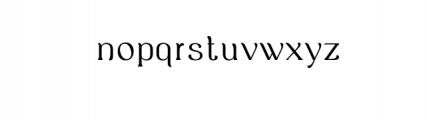 Ropiea - Modern Elegant Font Font LOWERCASE