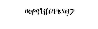 RoseloweTypeface.ttf Font LOWERCASE