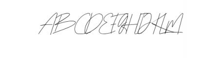 Rottles Script.ttf Font UPPERCASE