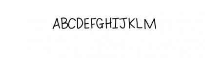 Roughly Write Set / Handwriting / 194 glyphs / ttf Font UPPERCASE
