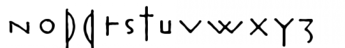 Rouge Bold Font LOWERCASE