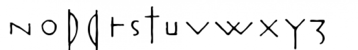 Rouge Regular Font LOWERCASE
