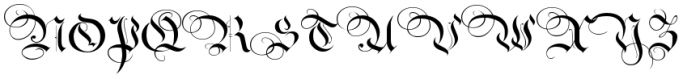 Royal Bavarian Fancy Font UPPERCASE