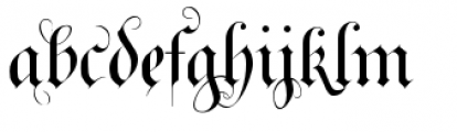 Royal Bavarian Fancy Font LOWERCASE