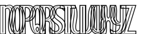 Royal Wedding Inline Font UPPERCASE