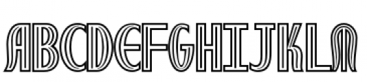 Royal Wedding Inline Font LOWERCASE