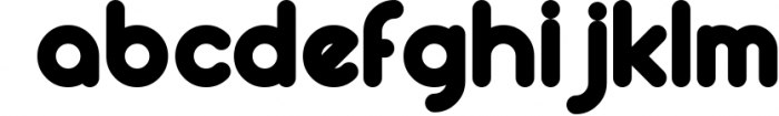 Round compound 3 Font LOWERCASE