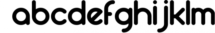 Round compound Font LOWERCASE