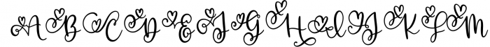Royally - A Hand Lettered Font Script with Heart Swashes 1 Font UPPERCASE