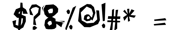 ROCK KAPAK2 Font OTHER CHARS