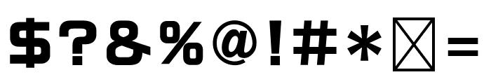 RoGSanSrfStd-Bd Font OTHER CHARS