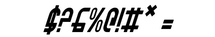 Ro'Ki'Kier Condensed Italic Font OTHER CHARS