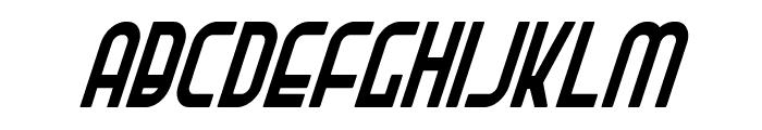 Ro'Ki'Kier Condensed Italic Font LOWERCASE