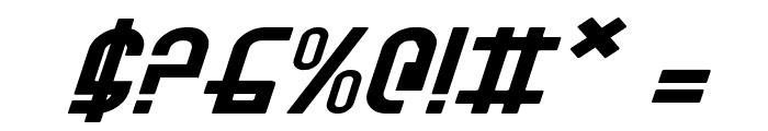 Ro'Ki'Kier Expanded Italic Font OTHER CHARS
