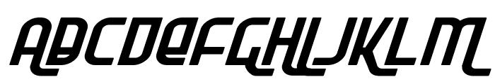 Ro'Ki'Kier Expanded Italic Font UPPERCASE