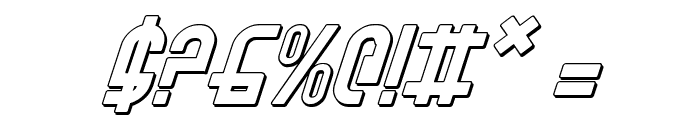 Ro'Ki'Kier Shadow Italic Font OTHER CHARS
