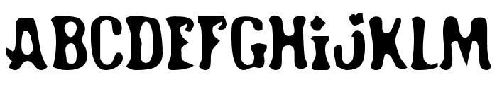 Road Hoe Font UPPERCASE