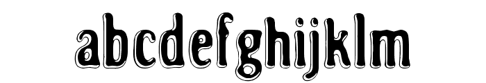 Road to nowhere Font LOWERCASE
